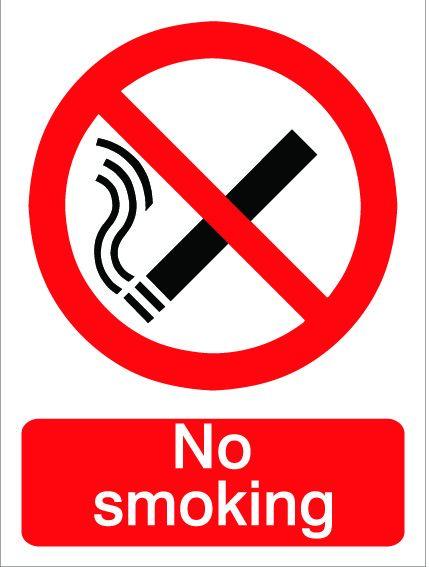 House Nameplate Co No Smoking Sign 15X20cm