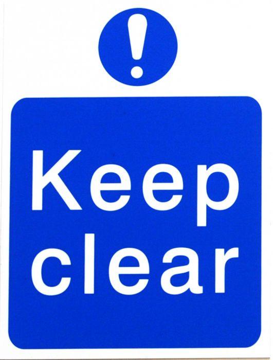 House Nameplate Co Keep Clear Blue 15X20cm