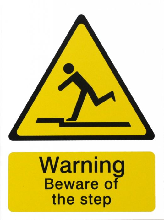 House Nameplate Co Danger Beware Of The Step 15X20cm