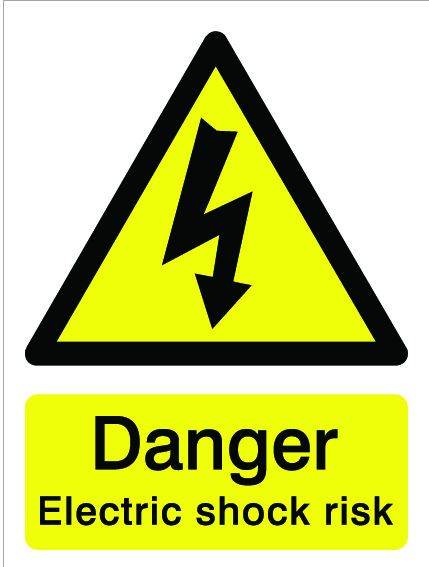 House Nameplate Co Danger Electric Shock Risk 15X20cm