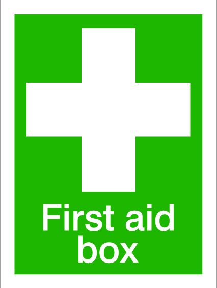 House Nameplate Co First Aid Box 15X20cm