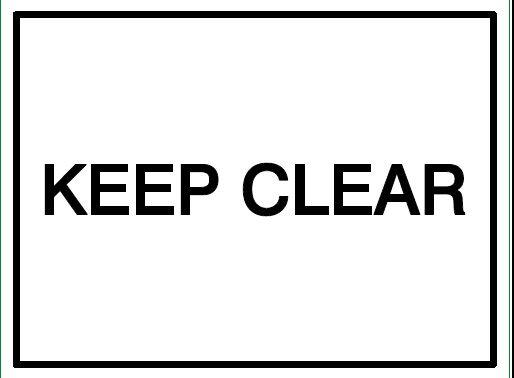 House Nameplate Co Keep Clear 15X20cm