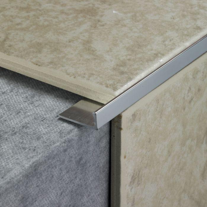 Tile Rite L Shape Tile Trim 2.4M X 12Mm Silver