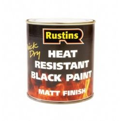 Rustins Heat Resistant Paint Black 500Ml