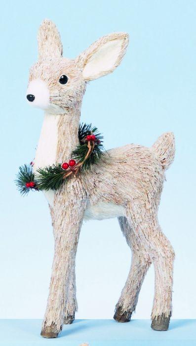 Rustic Straw Reindeer