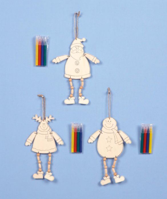 Colour Your Own Hanging Decorations With Hanging Legs