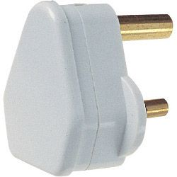 Dencon 5A 3 Pin Plug To Bs546 White Bubble Packed