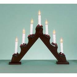 Dark Wood Candle Bridge