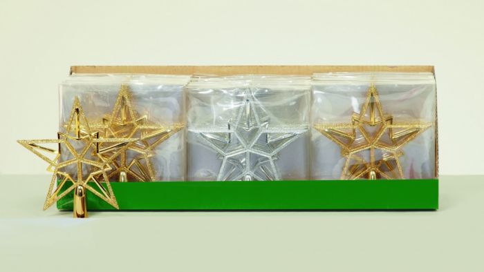 Tree Top Star Gold-Silver - Assorted