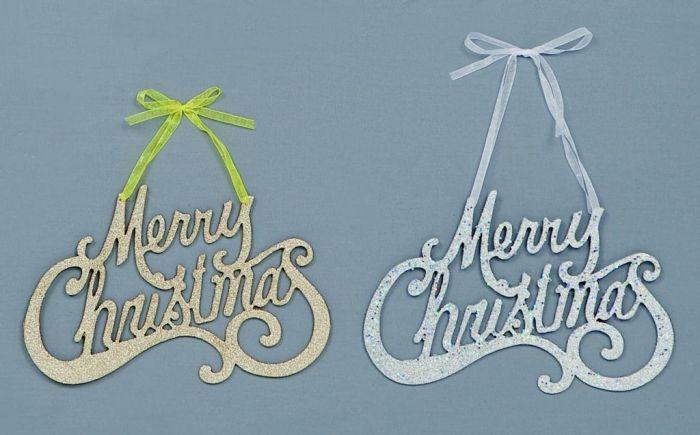Glitter Merry Xmas Hang
