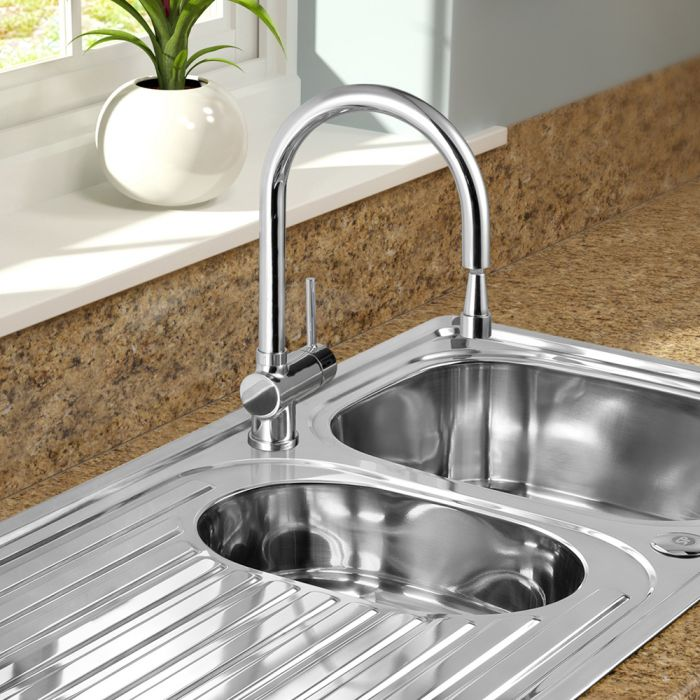 Sp Drake Pull Out Mono Mixer Sink Tap