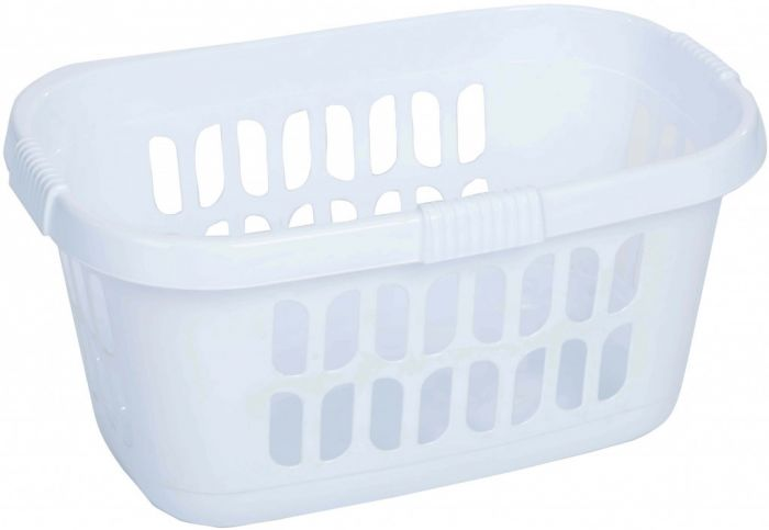 Casa Hipster Laundry Basket 59.00 X 39.00 X 30.50 Cm Ice White