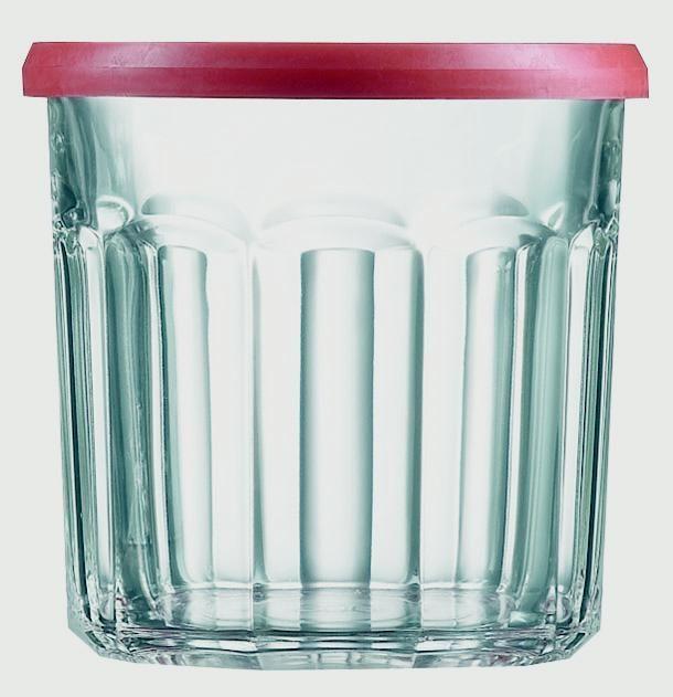 Luminarc Red Top Jam Jar - Sealing Lid (6 Pack) 0.5L