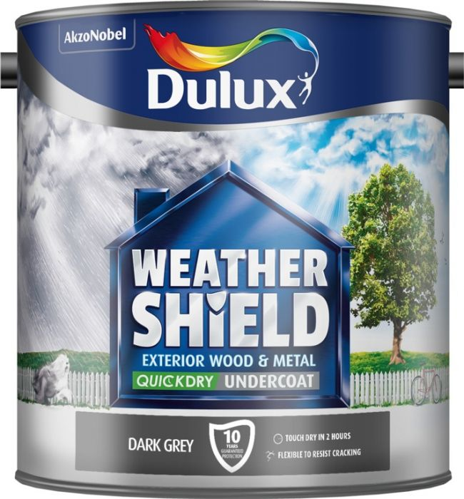 Dulux Weathershield Quick Dry Undercoat 2.5L Dark Grey