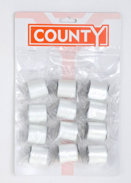 County Sewing Thread White Card 12