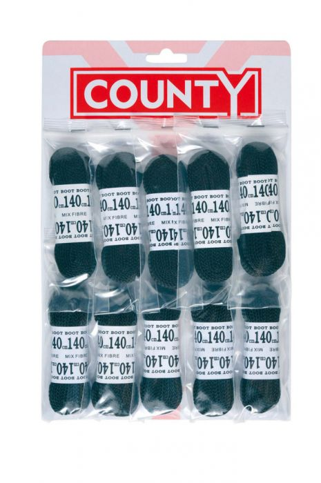 County Football Laces Black Card 10