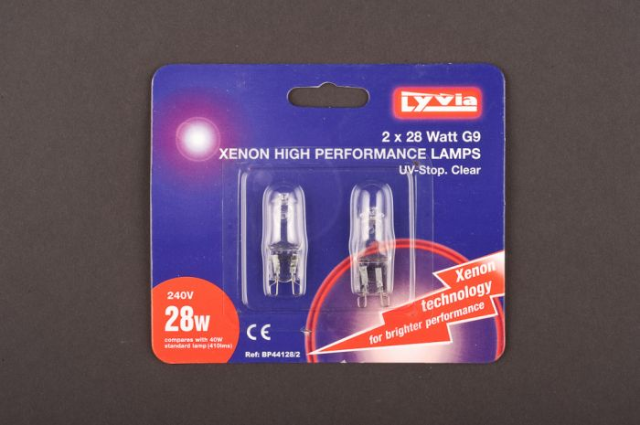 Lyvia Xenon High Performance Lamps G9 28W Twin Pack