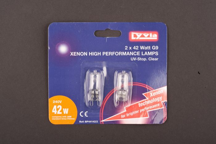 Lyvia Xenon High Performance G9 Bulb 42W Twin Pack