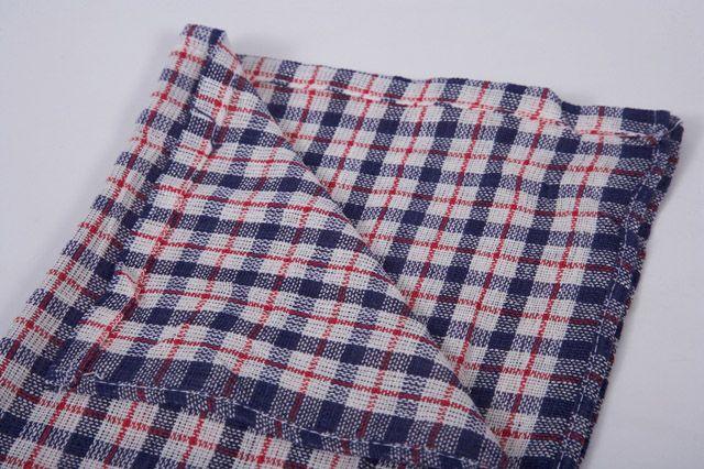 Coloured Check Tea Towel Pack 10 17 X 27