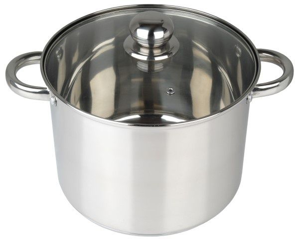 Pendeford Stainless Steel Collection Deep Stock Pot 24Cm