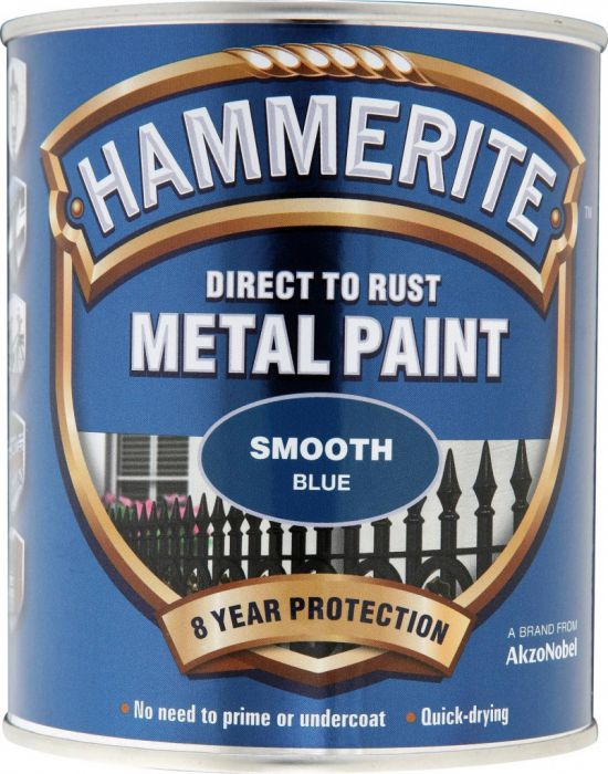 Hammerite Metal Paint Smooth 750Ml Blue