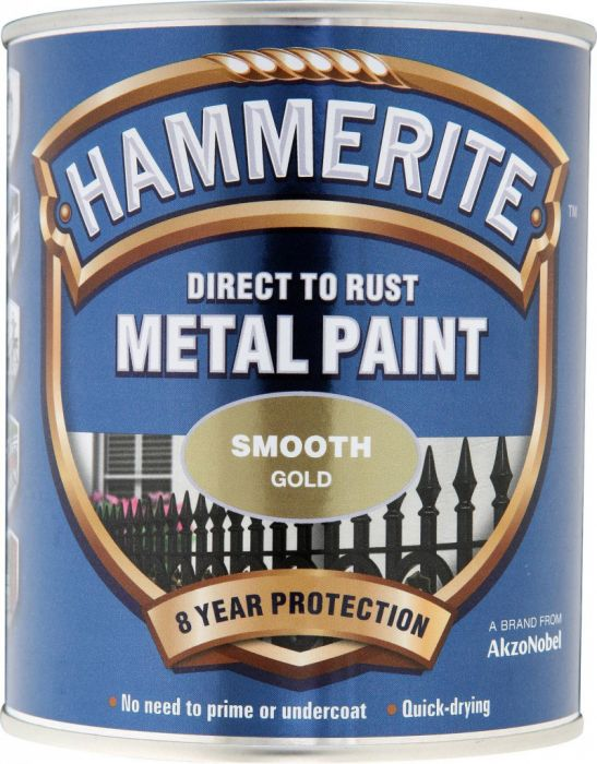 Hammerite Metal Paint Smooth 750Ml Gold