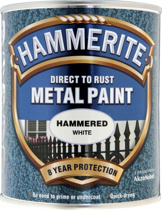 Hammerite Metal Paint Hammered 750Ml White