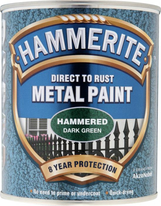 Hammerite Metal Paint Hammered 750Ml Dark Green