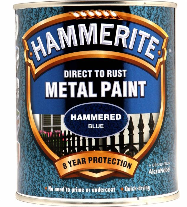 Hammerite Metal Paint Hammered 750Ml Blue
