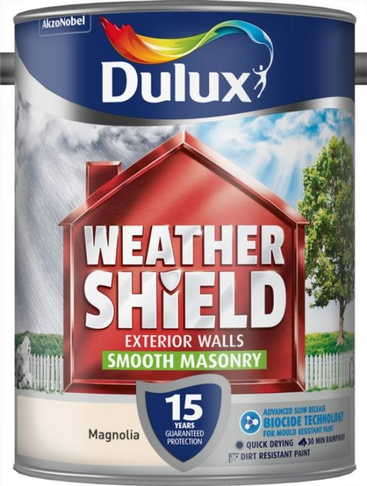 Dulux Weathershield Smooth Masonry Paint 5L Magnolia
