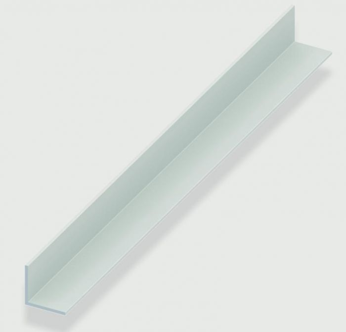 Rothley Angle Equal Sided - White Plastic 20Mm X 20Mm X 1.5Mm X 2M
