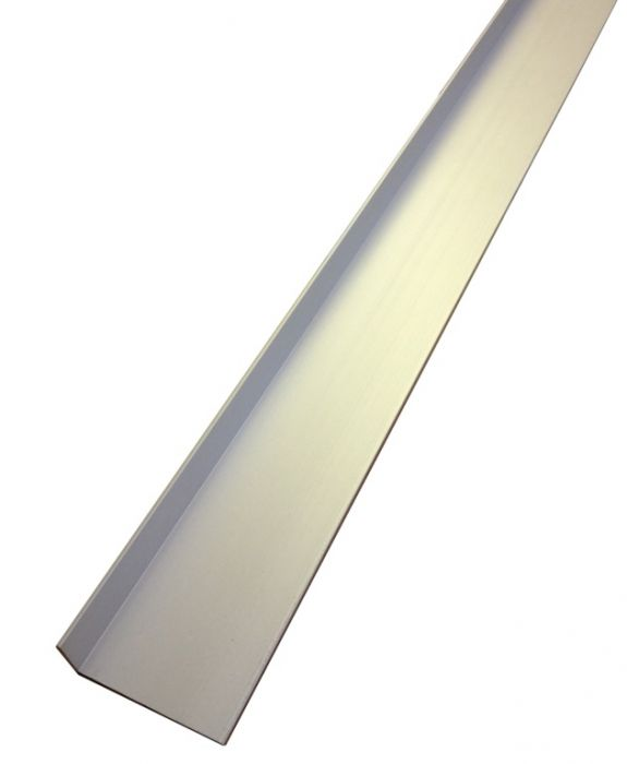 Rothley Angle Unequal Sided - Anodised Alumium - Silver 40Mm X 15Mm X 2Mmx 2M