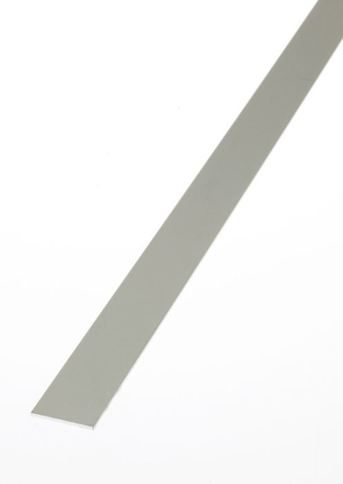Rothley Flat Bar - Anodised Aluminium - Silver 25Mm X 2.5Mm X 1M