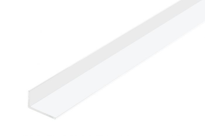 Rothley Angle Unequal Sided - White Plastic 40Mm X 10Mm X 2Mm X 2M