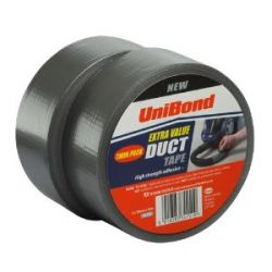Unibond Duct Tape Twin Pack 50Mm X 50M Silver
