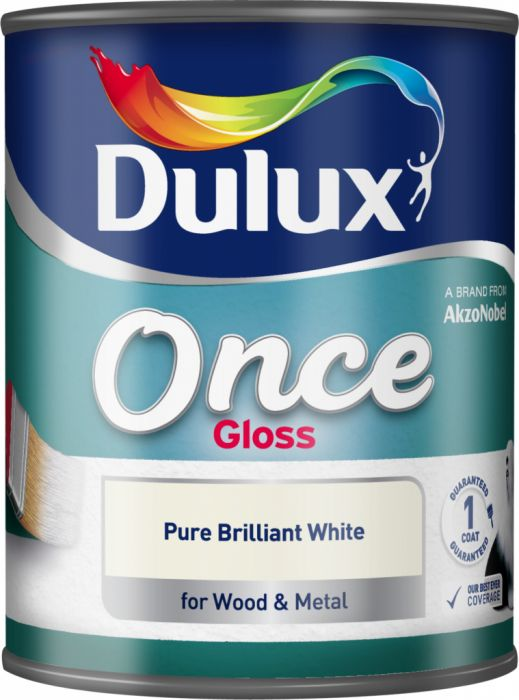 Dulux Once Gloss 750Ml Pure Brilliant White