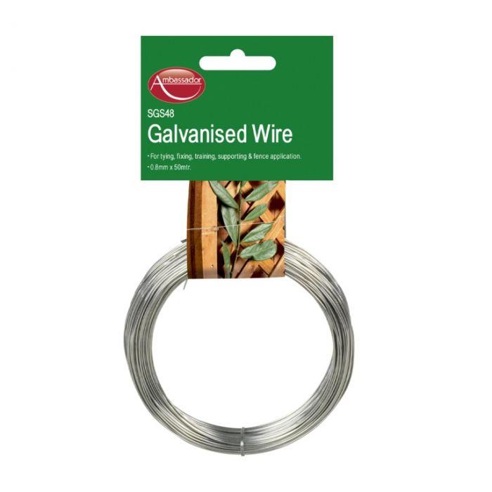 Ambassador Galvanised Wire 0.8Mm X 50M