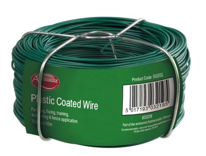 Ambassador Plastic Coated Wire 0.8Mm X 50M