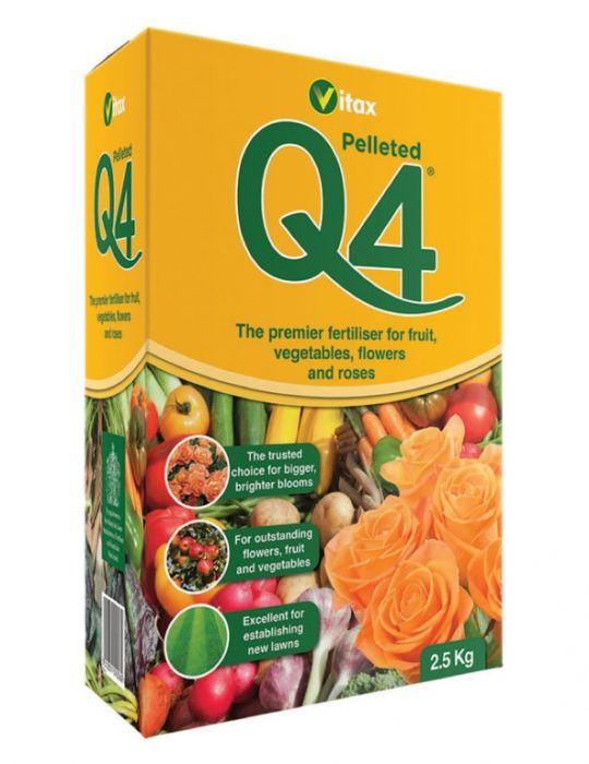 Vitax Q4 Fertiliser Pelleted 2.5Kg