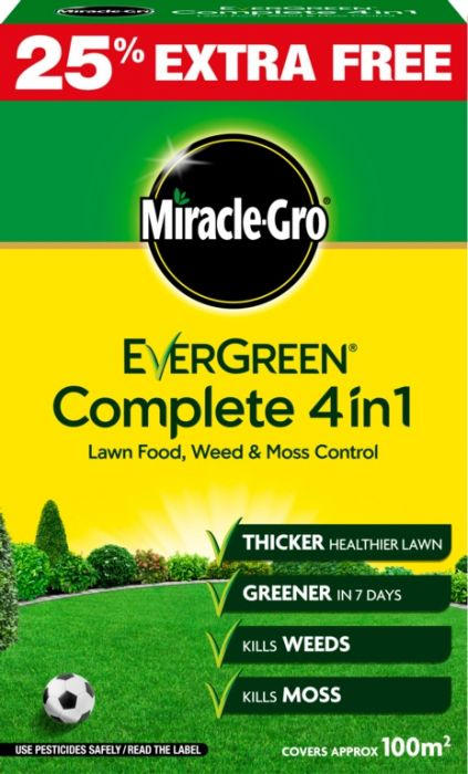 Miracle-Gro Evergreen Complete 4 In 1 80M2 Plus 25% Free