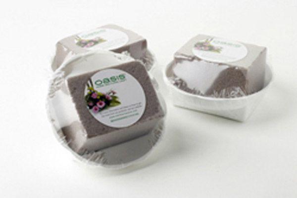 Oasis White Round Bowl - Oasis� Sec Floral Foam 16 X 4Cm