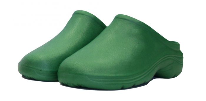 Town & Country Eva Cloggies - Green Uk Size 10 - Euro Size 44