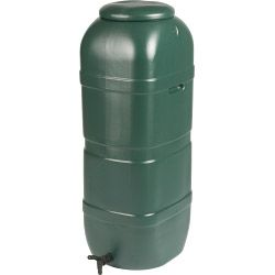 Ward Slim Space Saver Water Butt With Lid & Tap 100L Green
