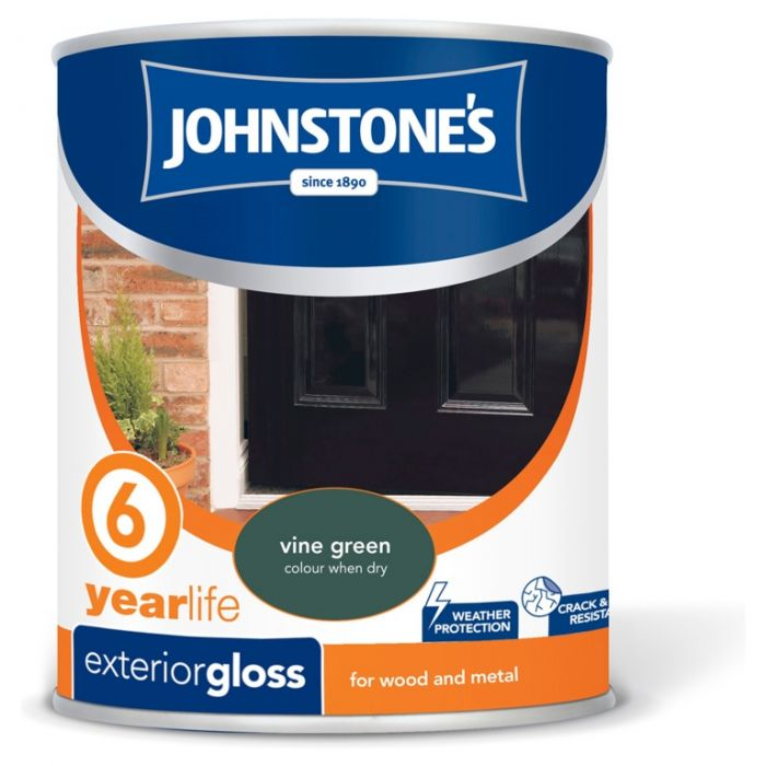 Johnstone's Exterior Hardwearing Gloss 750Ml Vine Green