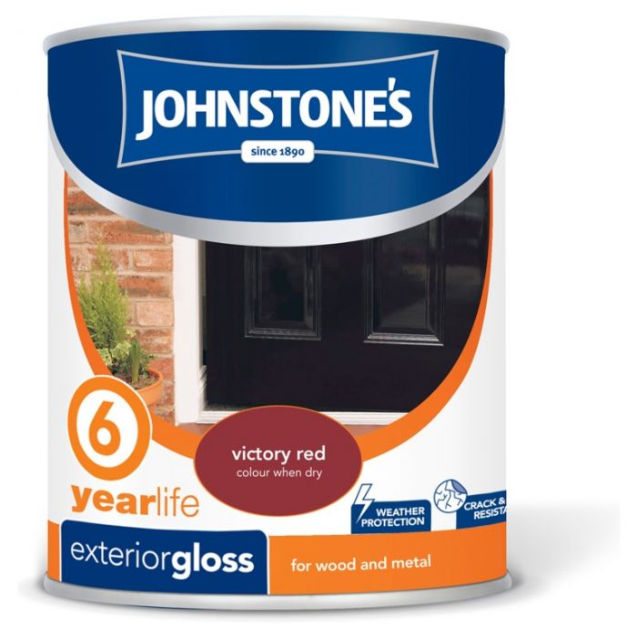 Johnstone's Exterior Hardwearing Gloss 750Ml Victory Red