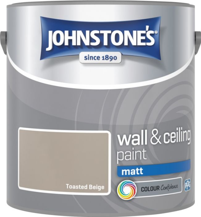 Johnstone's Wall & Ceiling Matt 2.5L Toasted Beige