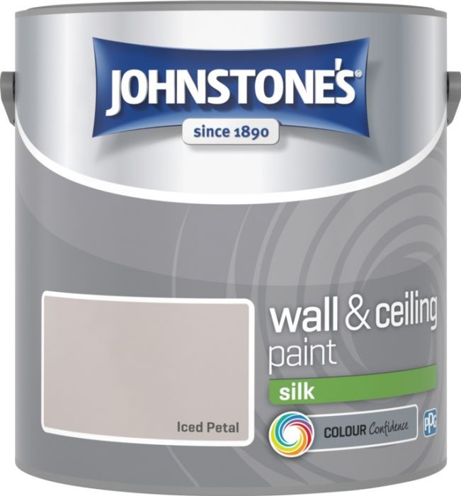 Johnstone's Wall & Ceiling Silk 2.5L Iced Petal