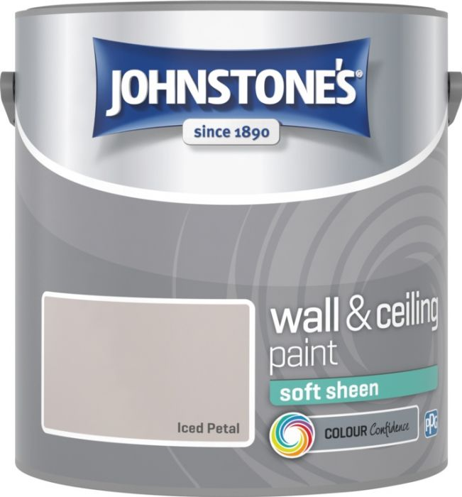 Johnstone's Wall & Ceiling Soft Sheen 2.5L Iced Petal