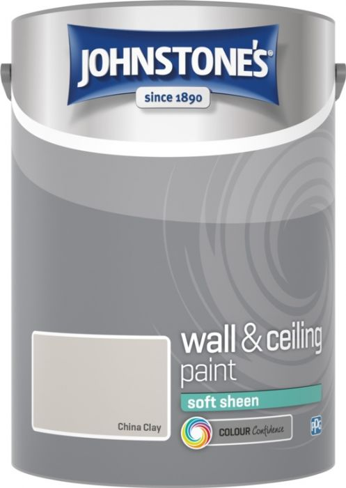 Johnstone's Wall & Ceiling Soft Sheen 5L China Clay