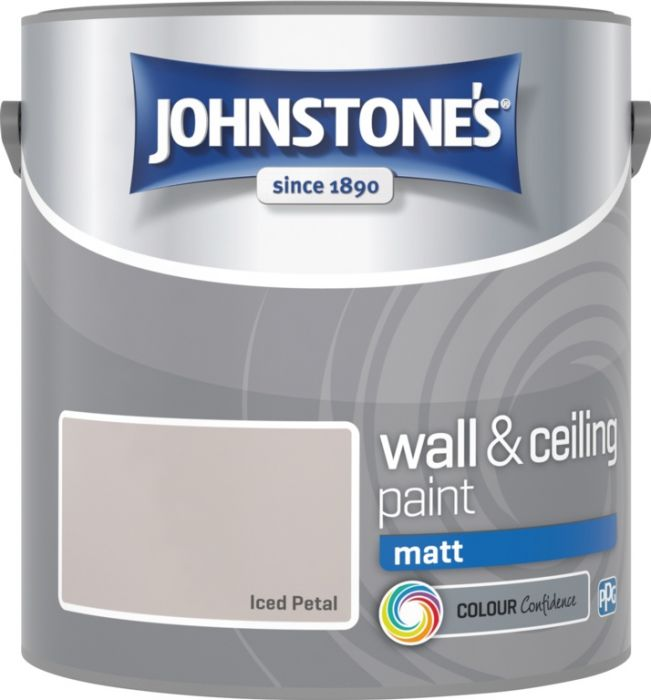 Johnstone's Wall & Ceiling Matt 2.5L Iced Petal